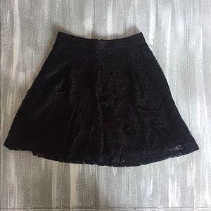 Express Black Lace Mini Skirt